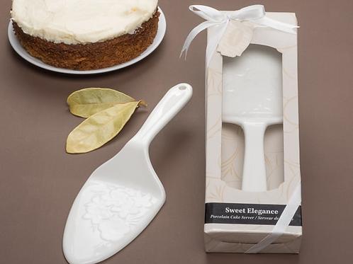 """""""Sweet Elegance"""" Porcelain Cake Server"""