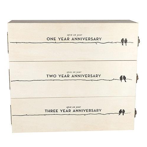 Newlywed's Anniversary Wooden Wine Box by Twine®