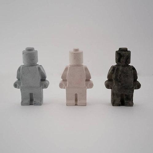 Large Concrete Legoman (grey, pink, blue, green, purple) 3 for 25