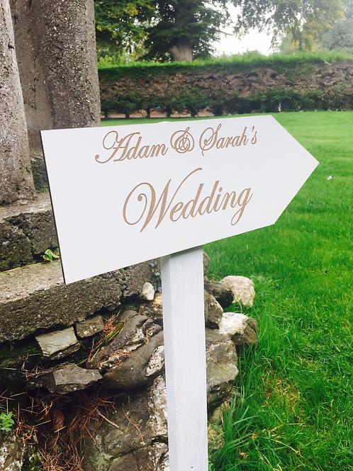 Personalised Wedding Directional Arrow