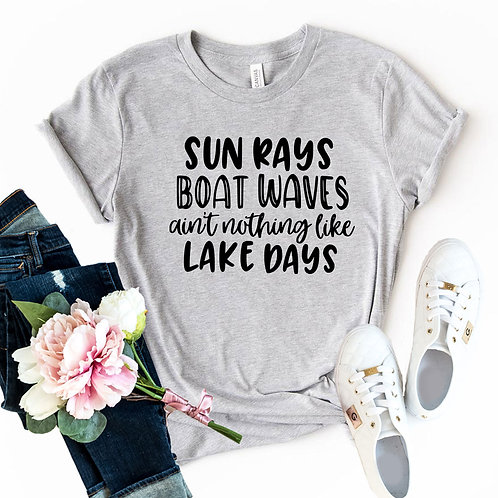 Sun Rays Boat Waves Ain't Nothing Like Shirt