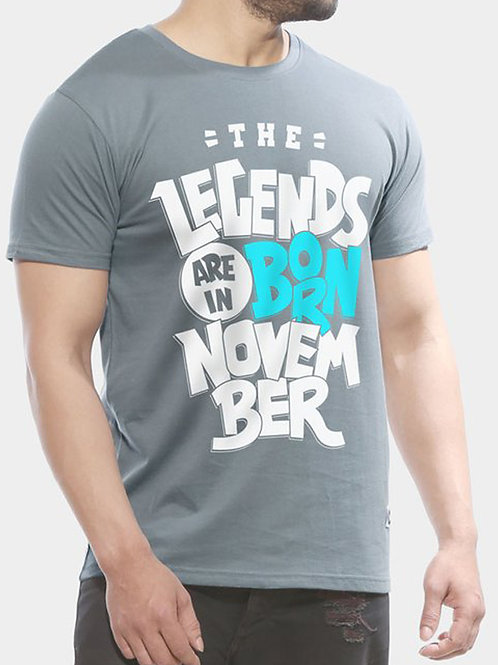 Legends Are Born In November - Half Sleeve T shirt