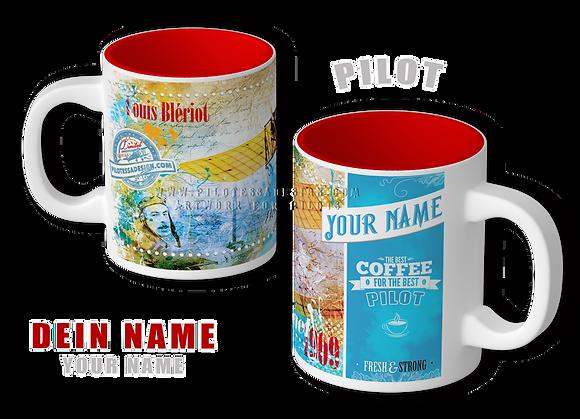 """Aviator Tasse """"Bleriot"""". Mit Deinem Namen!"""