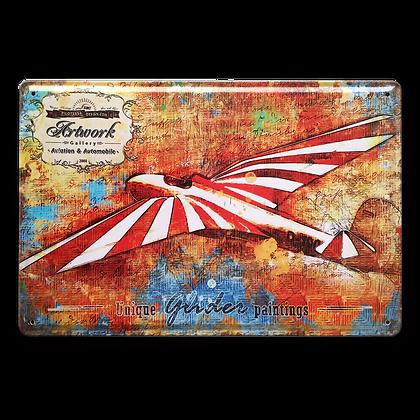"""Blechschild """"Vintage Glider"""""""