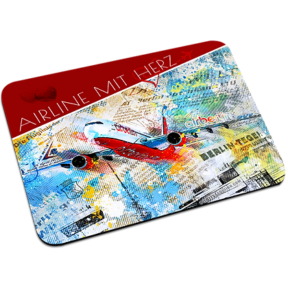 """Mousepad """"Airline mit Herz"""""""