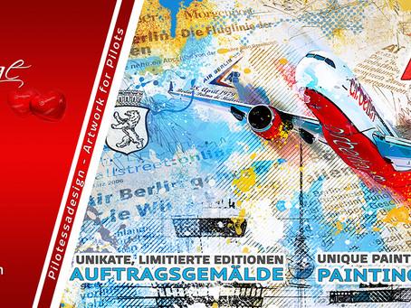 """""""HOMMAGE OF AIR BERLIN"""" – Einzigartiges Kunstwerk zu GEWINNEN!"""