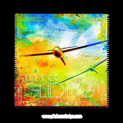 """Brillenputztuch """"Let's go gliding"""""""
