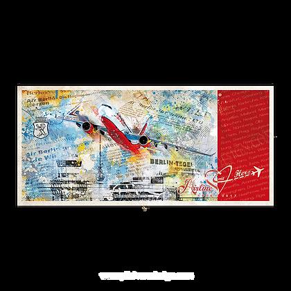 """Postkarte """"Airline mit Herz"""""""