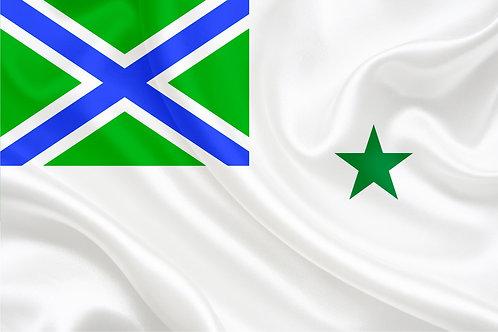Флаг Морской Пограничный командира соединения
