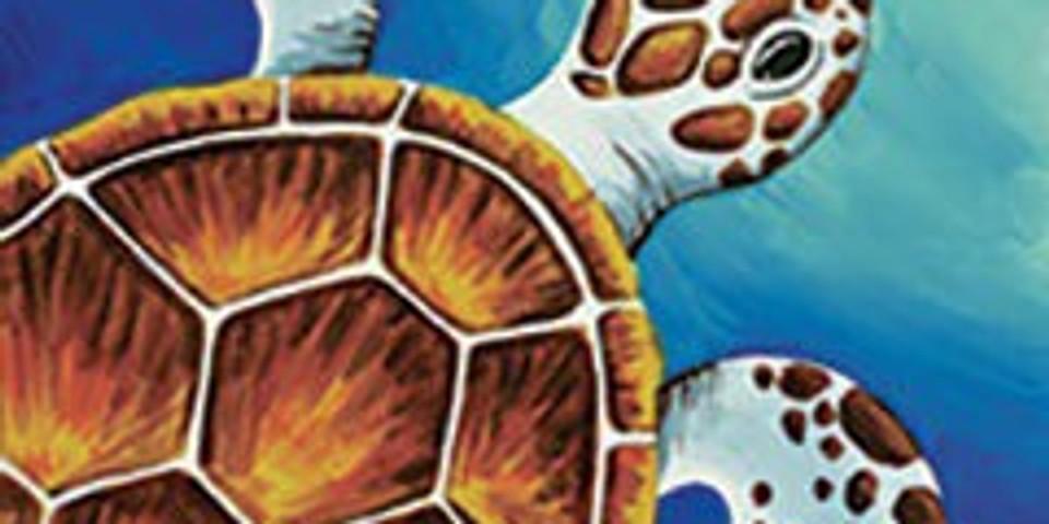 Sea Turtle Canvas Painting