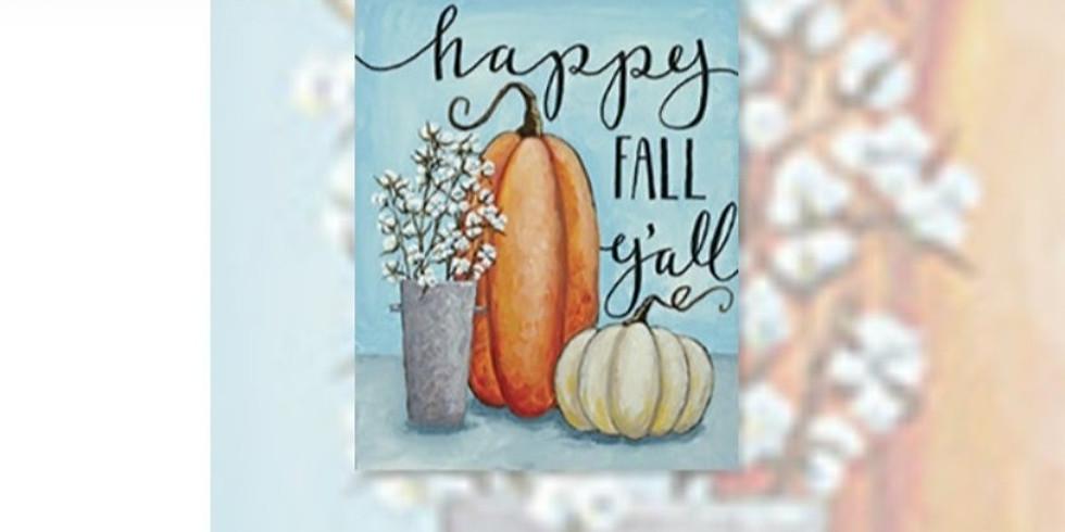 Happy Fall Y'all Canvas