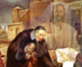 St Vincent de Paul worked with the poor. He saw Christ in each person.