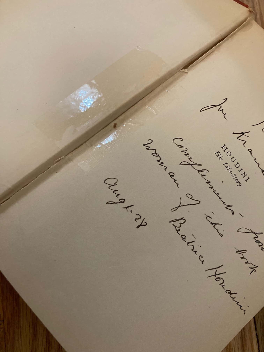 Book: Houdini: His life-story signed by Bess Houdini