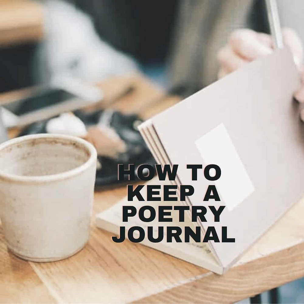 How to keep a poetry journal cover with coffee and journal.