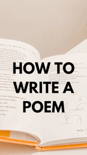 How to write a poem with open poetry book