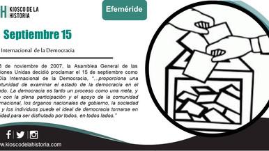 Efemérides del 15 de septiembre