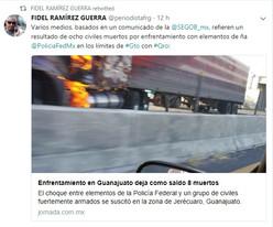 Policía Federal y estatal abaten a delincuentes en Guanajuato