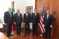 Inician actividades Tillerson y Kelly en México