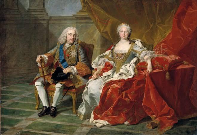 Los padres de Carlos III: Felipe V e Isabel de Farnesio