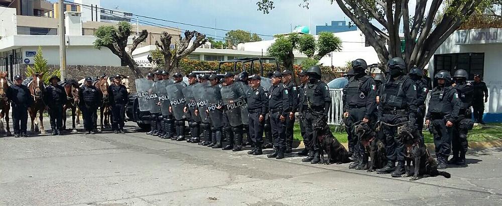 100 Policías refuerzan seguridad en Irapuato. Foto: @edgarfabianvf