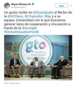 Universidad de California, UC Davis, en Guanajuato