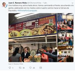 Juan Carlos Romero Hicks arranca su campaña rumbo al Congreso de la Unión