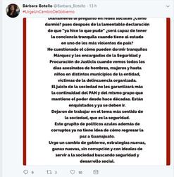 """""""Urge un cambio de gobierno"""" Bárbara Botello"""