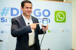 Diego Sinhue presenta la plataforma digital #DiegoSíTeEscucha