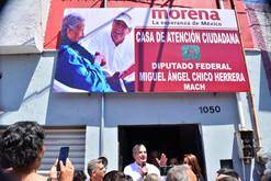 El diputado federal Miguel Ángel Chico inaugura su casa de atención ciudadana