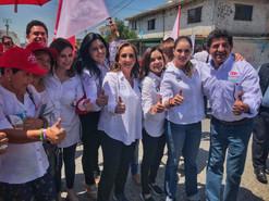 Claudia Ruiz Massieu apoya a candidatos irapuatenses