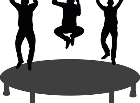 Did you know that adults can have fun while exercising?  How?  Trampoline parks...