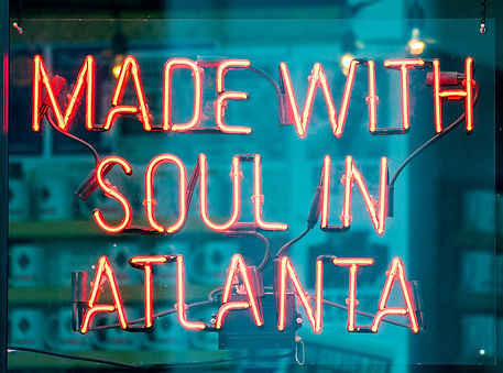 Made with soul in Atlanta street red lig