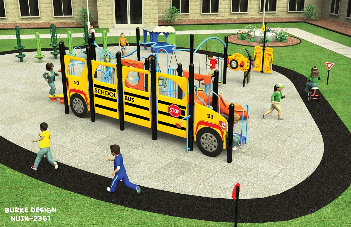School Bus Playset