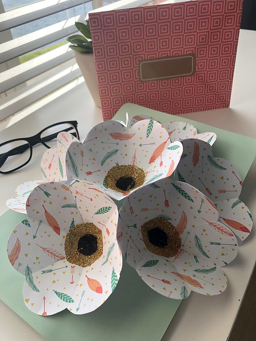 MY BEAUTIFUL Custom Bouquet Pop Up Card with s&h