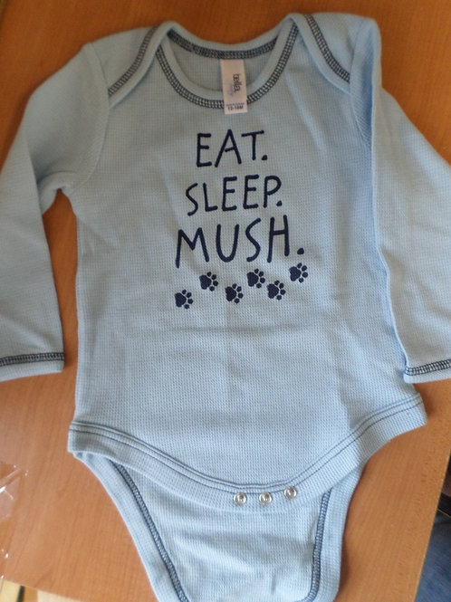 Eat, Sleep, Mush Baby Onesie