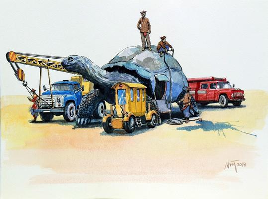 Rùa & Phương tiện vận tải - Turtle With Transportation.JPG
