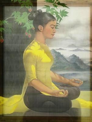 Cô gái tập Yoga - A girl is doing Yoga.j