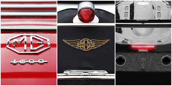 Album réalisé durant les évènement des 24h du mans. Détails de voitures actuelles, collections tel que; MG, Morgan, Corvette, Chevrolet, Mustang, Ferrari....