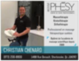 Christian Chénard, Orthothérapeute