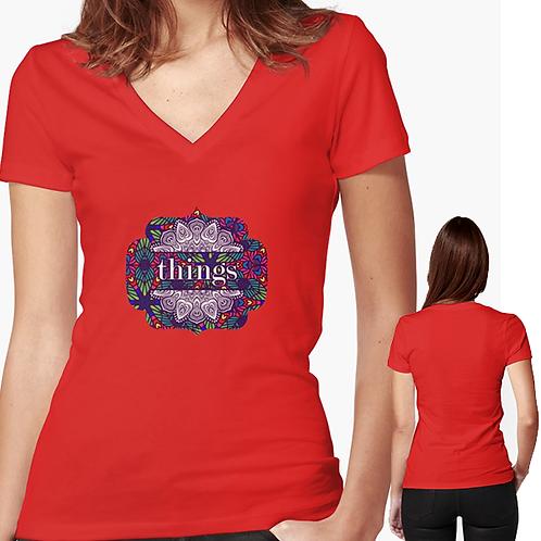 Things TT Women's V-Neck T-Shirt