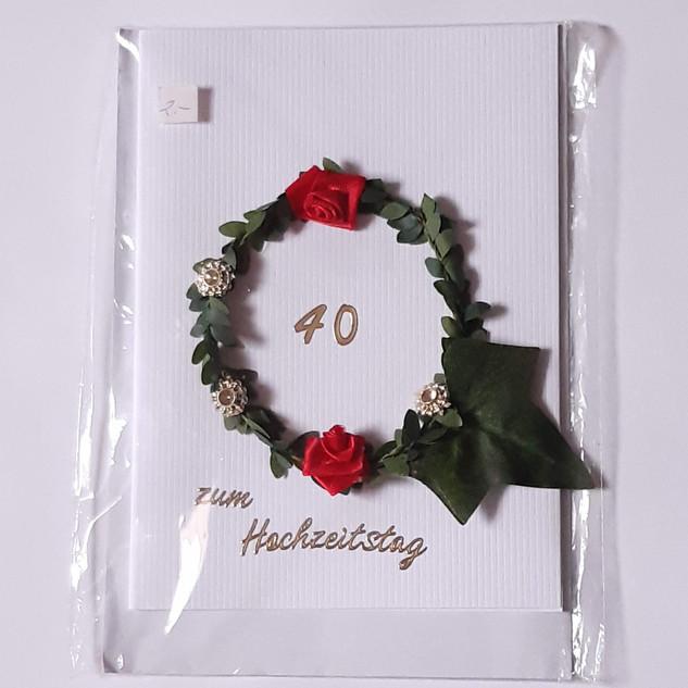 Hochzeitskarte Art. 012                        40 Jahre