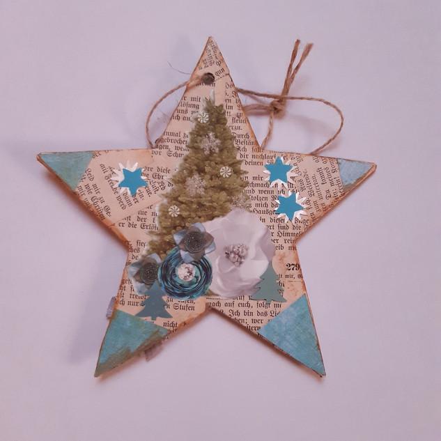 Stern blau Tannenbaum