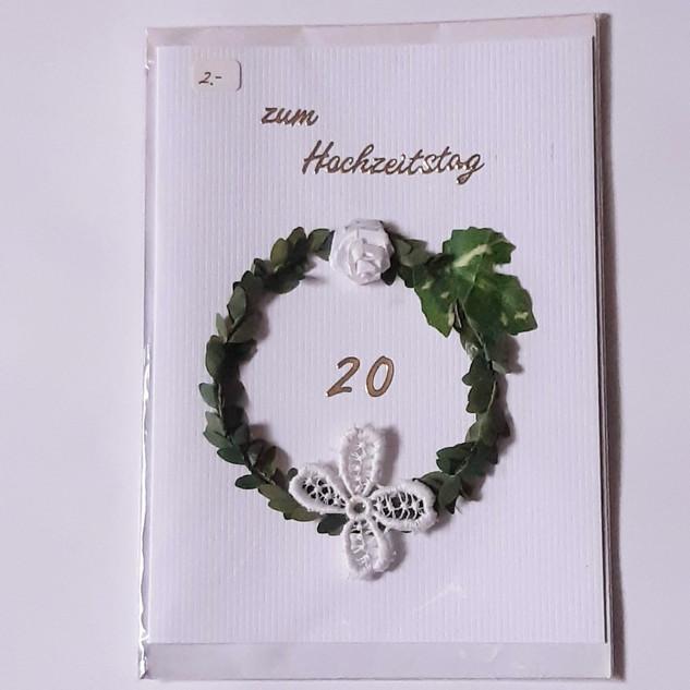 Hochzeitskarte Art. 006                       20 Jahre