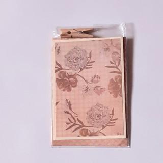 Kleine Karte Blumen braun