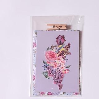 Kleine Karte Blumen lila