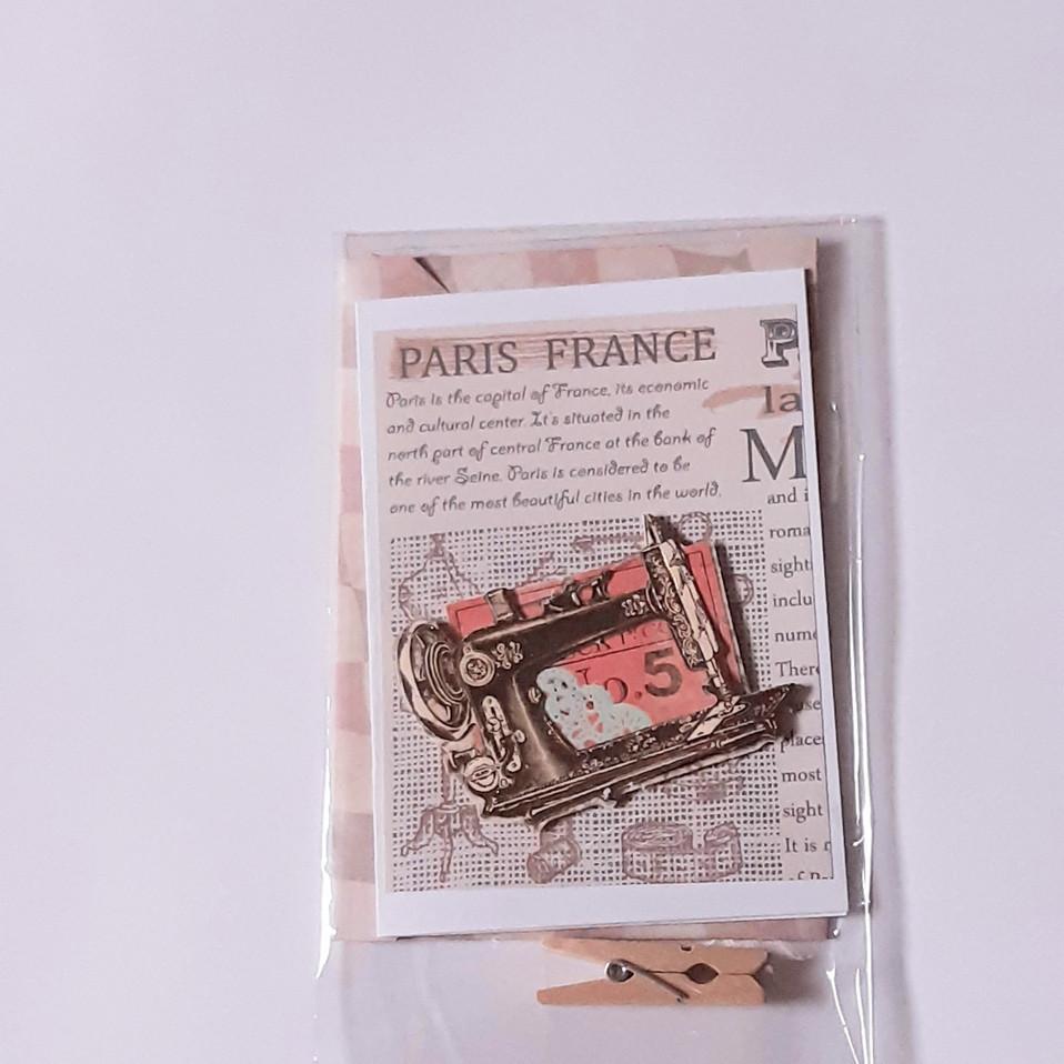 Kleine Karte Nähmaschine