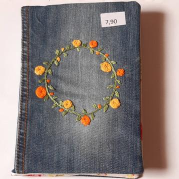 Notizbuch Jeans Kranz gelb
