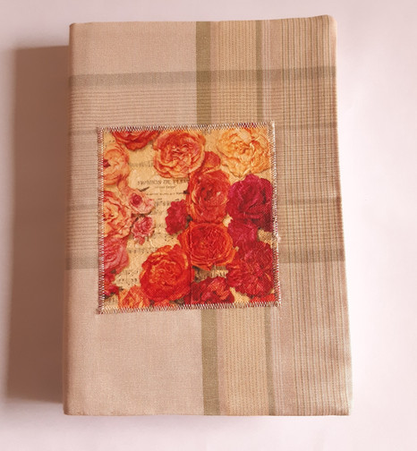 Notizbuch Rosen beige