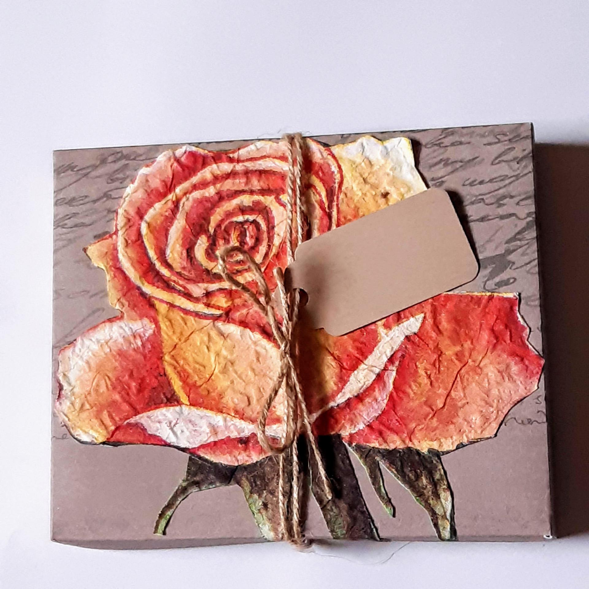 Schachtel orange Rose