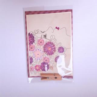 Karte klein abstrakte Blumen